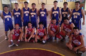 The Timpuyog (blue, standing) and Giants (red, seating) Teams. Photo by Roderick V. Pacuyan.