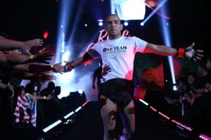 Rene Catalan entering the fighting arena. Photo by ONE Championship.
