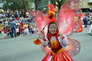 INSPIRED.A student performer dances along Session Road during the opening of Panagbenga 2017 last February 1, 2017.(February 5, 2017) Photo by JOSEPH B. MANZANO.