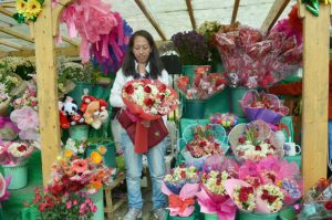 FEELING POSITIVE.For this flower vendor, the heart month brings prosperity. These flowers take center stage this month for being among the favorite gifts for expressing emotions. (February 12, 2017) Photo by JOSEPH B. MANZANO