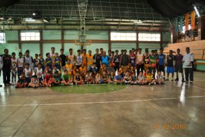 HOOPS TRAINING. Some of the participants of the A01 Community Basketball Clinic held last December 11, 2016 at the La Trinidad gymnasium. A01 is an entity known to conduct basketball training modules and curriculums to young people in the country maybe on its way to be integrated in the sports programs of La Trinidad, Benguet. (March 5, 2016) ARMANDO M. BOLISLIS, photo contributed by: Cristopher Bansan.