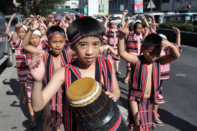 Young Ibaloi children got in their traditional cultural attires and joined the parade of the 8th Ibaloy Day festivities in Baguio City last February 23, 2017 (February 27, 2017) REDJIE MELVIC CAWIS, PIA-CAR