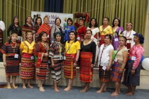 KAKABAIHAN FESTIVAL - Kalipi and Women's Organization representing their barangay garbed in Igorot attire pose before the judges and guest speaker Councilor Lilia Fariñas (back row, sixth from left) during the Kababaihan Festival Ethnic Attire Fashion Show and Women Got talent capping the celebration of Women's Month. (April 2, 2017) By BONG CAYABYAB