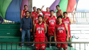 The Kapangan Sons poses with Benguet Provincial Board Member Johnny D. Waguis after winning the the Seniors Division (36 years and up) title of the Benguet Inter-municipality Sports for All Program held last November 26, 2016 to February 11, 2017 at the Benguet Capitol Open Gymnasium. Contributed photo.