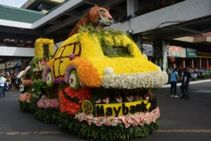 SMALL BUT BEAUTIFUL. First timers Maybank was declared as the snall float category champion in the recent Panagbenga Grand Float competition. RMC PIA-CAR.