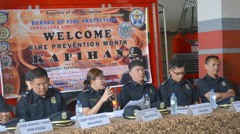 FIRE PREVENTION MONTH CULMINATION – Regional, provincial and city fire officers led by Senior Superintendent Maria Sofia Mendoza, Bureau of Fire Protection-Cordillera Administrative Region, Regional Director, discuss their plans and programs for the upcoming months after the successful conduct of the fire prevention month activities. (April 2, 2017) ROSALIA T. SEE