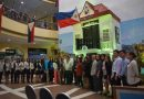 Commemorative Philippine flag displayed at SM