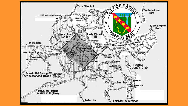 Historical Notes On Baguio City HERALD EXPRESS Baguio City - Baguio map